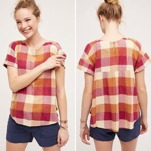 Isabella Sinclair for Anthropologie checked top